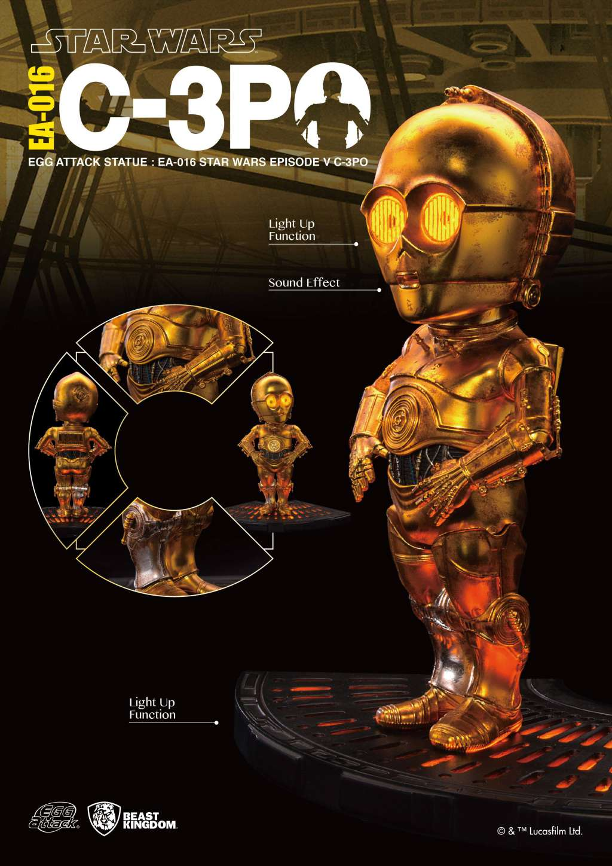 Star Wars Figura con sonido y luz Egg Attack C-3PO Episodio V 05