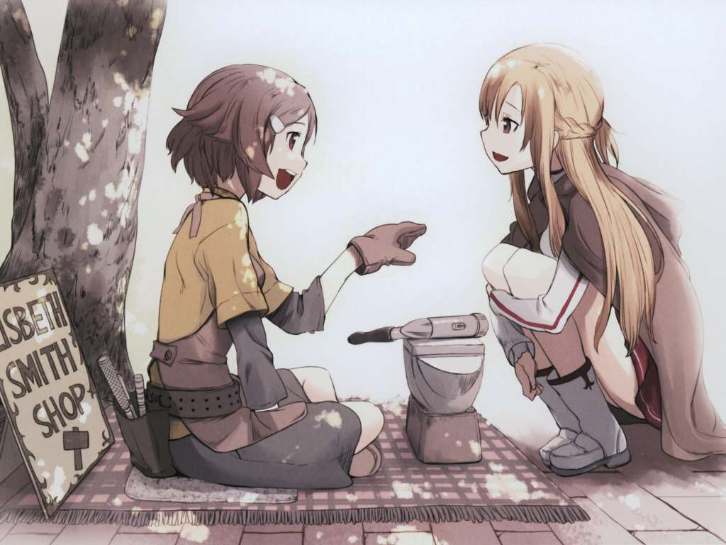 Wallpaper Sword Art Online Lisbeth y Asuna