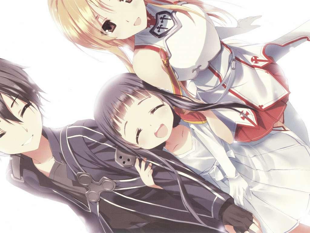 Wallpaper Sword Art Online Asuna, Kirito y Yui