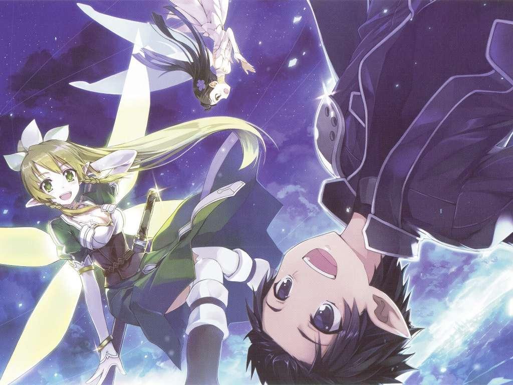 Wallpaper Sword Art Online Leafa y Kirito
