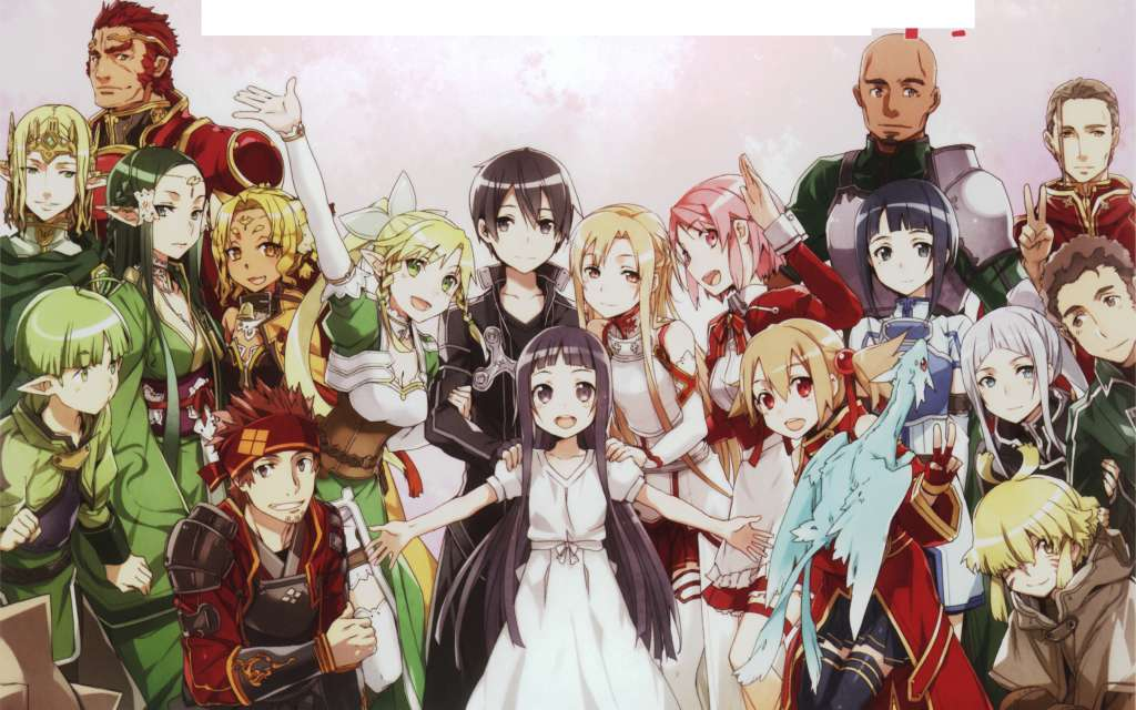 Wallpaper Sword Art Online Grupo