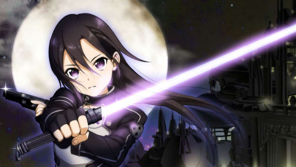 Wallpaper Sword Art Online II Kirito sable laser