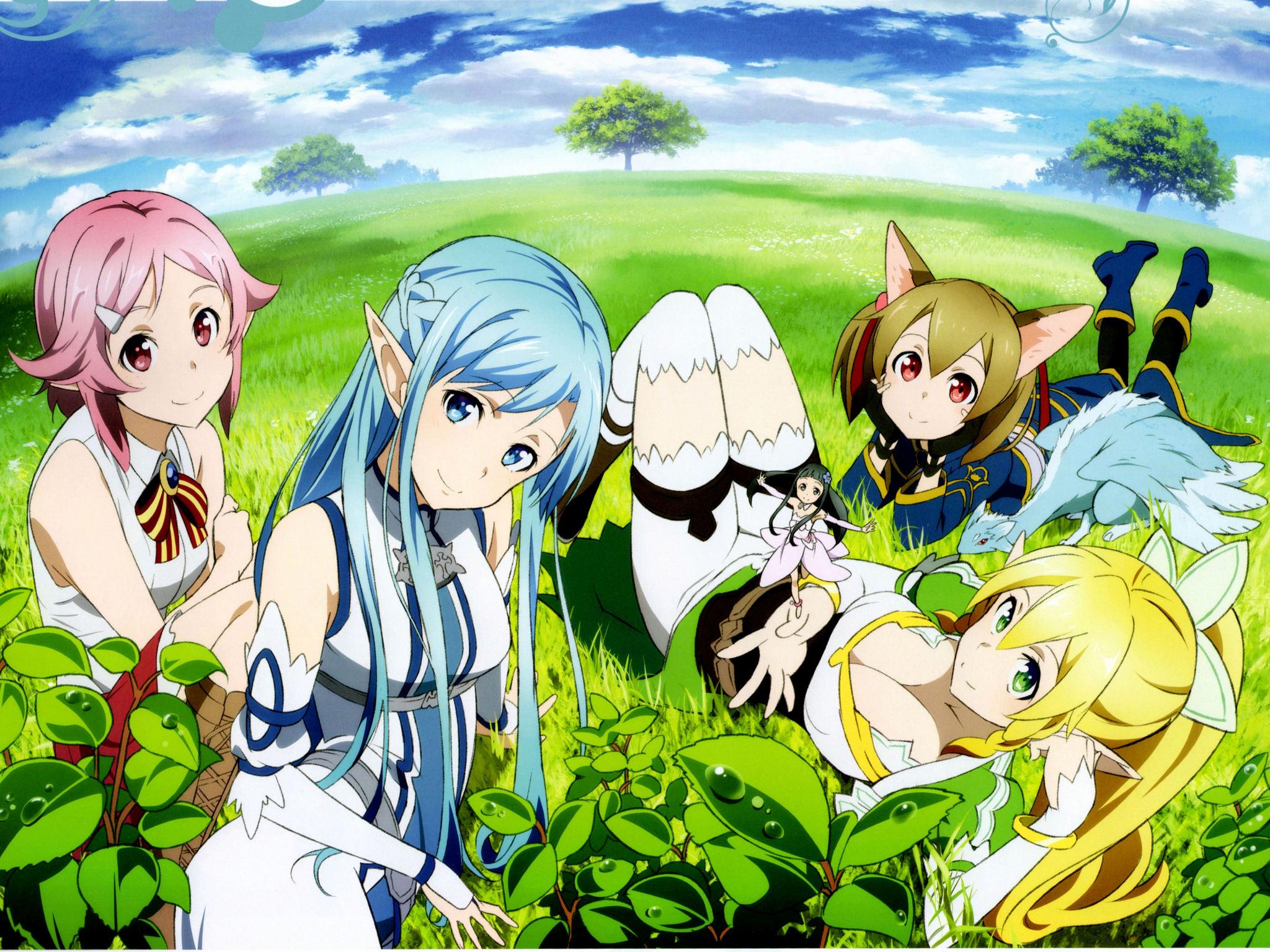 Wallpaper Sword Art Online Girls