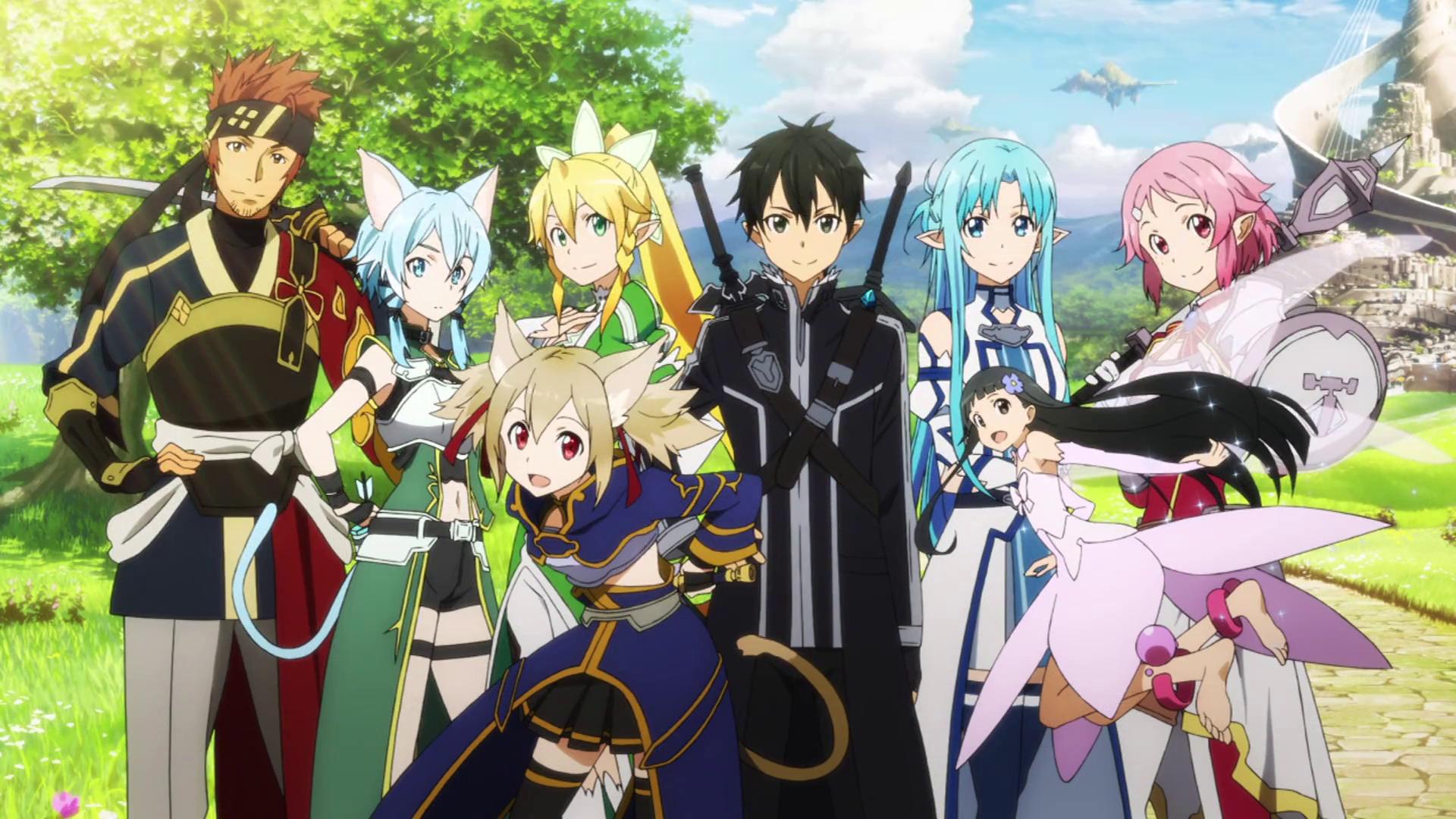 Wallpaper Sword Art Online II Grupo