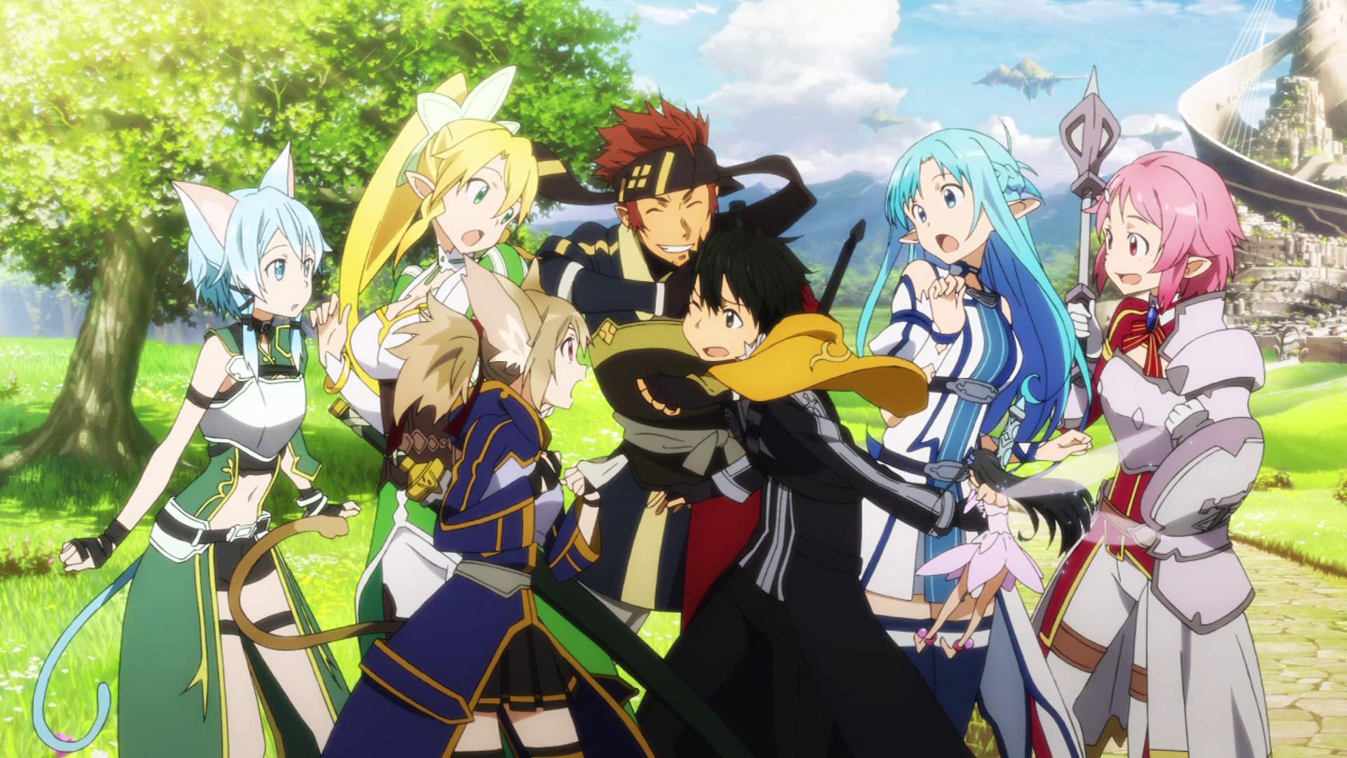 Wallpaper Sword Art Online II Grupo 2