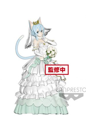 Sword Art Online Code Register Figura EXQ Wedding Sinon 21 cm